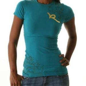 NWT Glitter Printed Rocawear Tee Shirt L